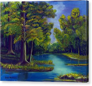 Deep Woods Canvas Print by George Markiewicz