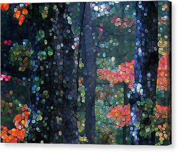 Deep Woods Mystery Canvas Print by Dave Martsolf