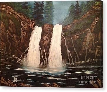 Deep Woods Waterfall Canvas Print by Tim Blankenship