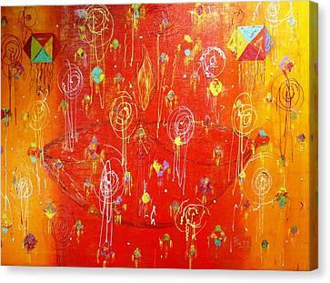 Deepawali In India Canvas Print by Piety Dsilva