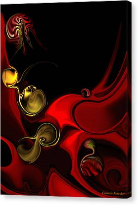 Canvas Print featuring the digital art Deeper Reappearance Of High Energy by Carmen Fine Art