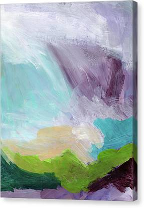 Deepest Breath- Abstract Art By Linda Woods Canvas Print by Linda Woods