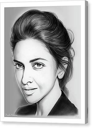 Deepika Padukone Canvas Print by Greg Joens
