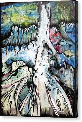 Airbrush Canvas Print - Deeply Rooted IIi by Shadia Derbyshire