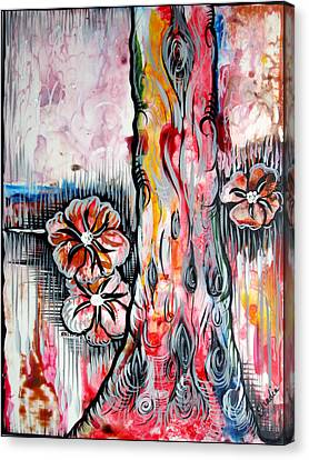 Airbrush Canvas Print - Deeply Rooted V by Shadia Derbyshire