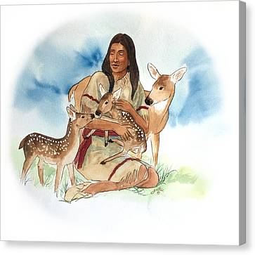 Deer Clan Mother Canvas Print by John Guthrie