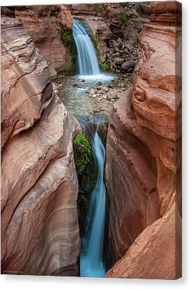 Canvas Print featuring the photograph Deer Creek Double Waterfall by Britt Runyon