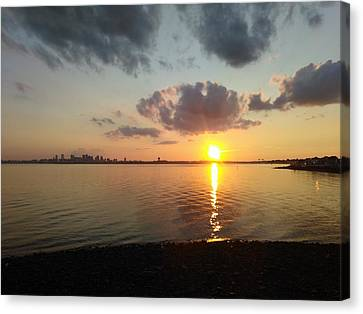 Deer Island Sunset Canvas Print