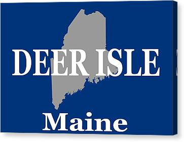 Canvas Print featuring the photograph Deer Isle Maine State City And Town Pride  by Keith Webber Jr