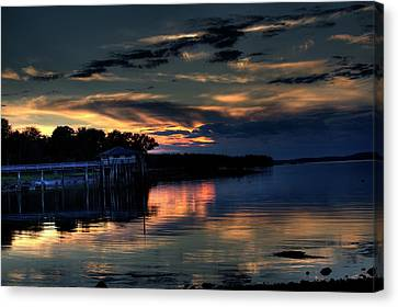 Canvas Print featuring the photograph Deer Isle Sunset I by Greg DeBeck
