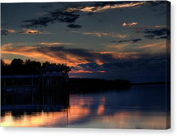 Canvas Print featuring the photograph Deer Isle Sunset II by Greg DeBeck