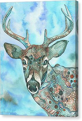 Canvas Print featuring the painting Deer by Tamara Phillips