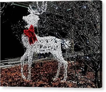 Deer Winter Canvas Print
