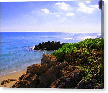 Canvas Print featuring the photograph Deerfield Beach by Artists With Autism Inc