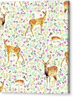 Deers Canvas Print by Uma Gokhale