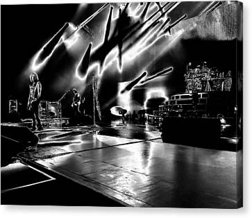 Def Leppard At Saratoga Springs 5 Canvas Print by David Patterson