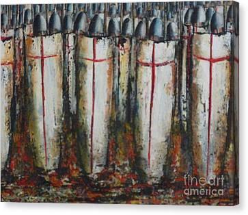 Defence Of Jerusalem Zoom Canvas Print by Kaye Miller-Dewing