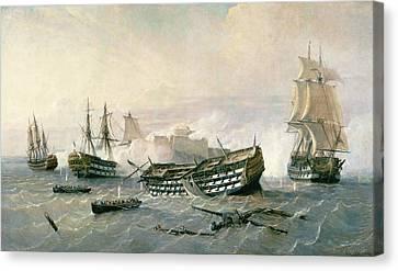 Defence Of The Havana Promontory  Canvas Print by Rafael Monleon y Torres
