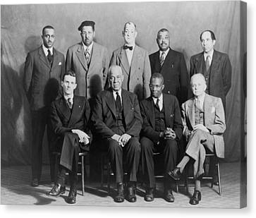 Defendants And Naacp Counsel Canvas Print by Everett