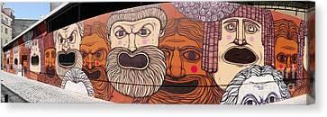 Defiant Graffitti Canvas Print