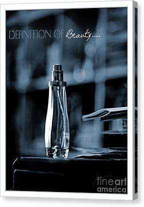 Definition Of Beauty Blue Canvas Print