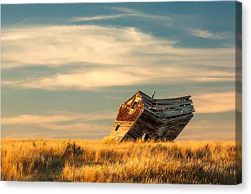 Abandoned House Canvas Print - Defying Gravity by Todd Klassy