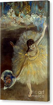 Degas: Arabesque, 1876-77 Canvas Print by Granger