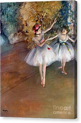 Late Canvas Print - Degas: Dancers, C1877 by Granger