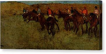 Degas Edgar At The Races Before The Start Canvas Print