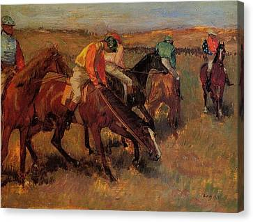 Degas Edgar Before The Race Canvas Print