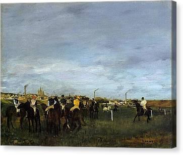 Degas Edgar Before The Race2 Canvas Print