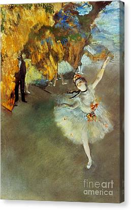 Degas: Star, 1876-77 Canvas Print by Granger