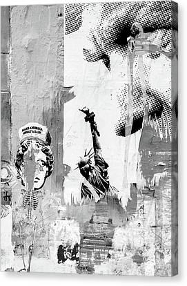 Potus Canvas Print - Degradation Of America by Jeff Burgess