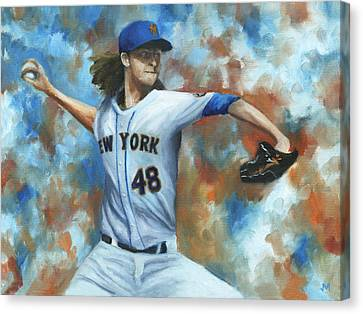 deGrom Canvas Print by Joe Maracic