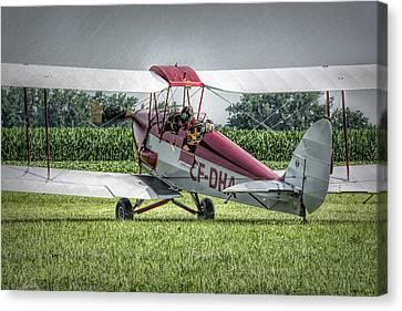 Dehavilland Dh-82c Tiger Moth Canvas Print by Guy Whiteley