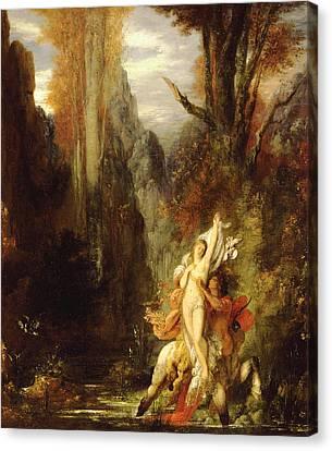 Centaur Canvas Print - Dejanira  Autumn by Gustave Moreau