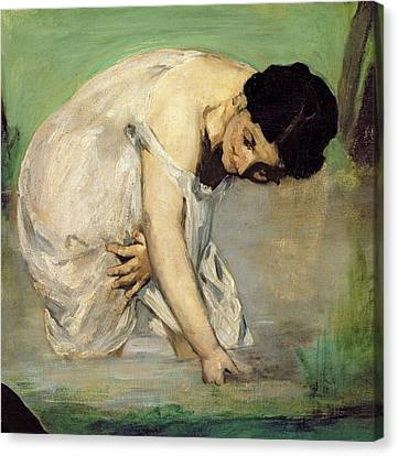 Dejeuner Sur Lherbe Canvas Print by Edouard Manet