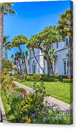 Architecture Canvas Print - Del Coronado Hotel Beach Village by David Zanzinger