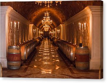 Del Dotto Wine Cellar Canvas Print by Scott Campbell