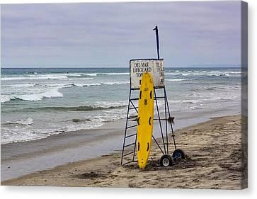 Del Mar Lifeguard Tower Canvas Print