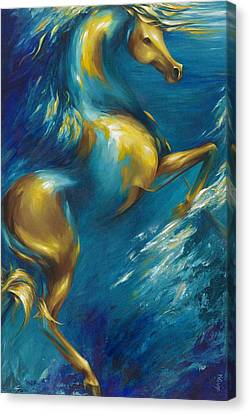 Canvas Print featuring the painting Del Sol by Dina Dargo