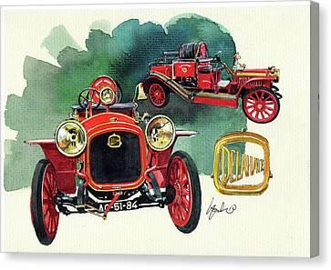 Delahaye 43hp Fire Engine  Canvas Print
