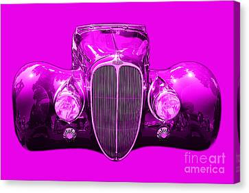 Delahaye . Magenta Canvas Print by Wingsdomain Art and Photography