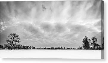 Canvas Print featuring the photograph Delaware Park Winter  Meadow by Chris Bordeleau