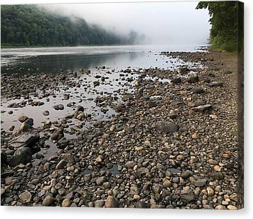 Canvas Print featuring the photograph Delaware River Mist by Helen Harris