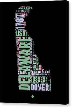 Delaware Word Cloud 1 Canvas Print