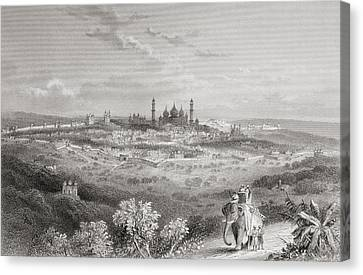 Delhi, India, From A 19th Century Canvas Print