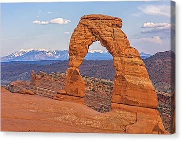 Delicate Arch At Sunset Canvas Print