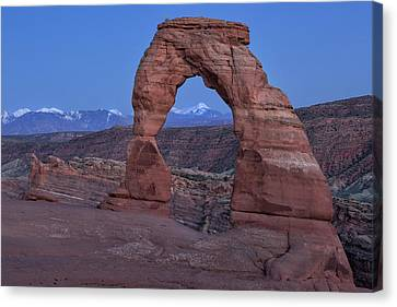 Delicate Arch At Twilight Canvas Print