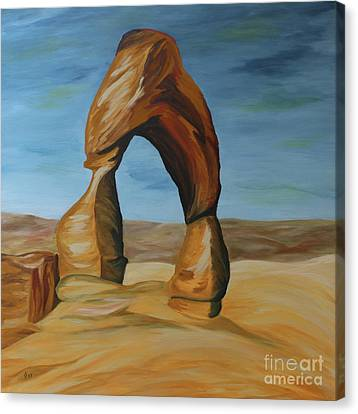 Canvas Print featuring the painting Delicate Arch II by Christiane Schulze Art And Photography